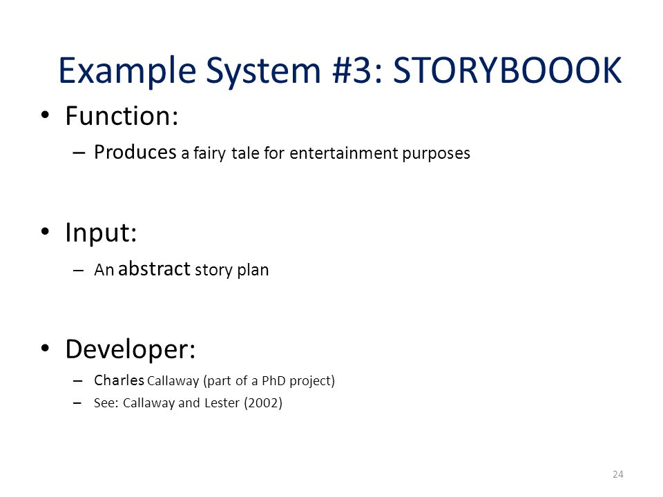 Example System #3: STORYBOOOK