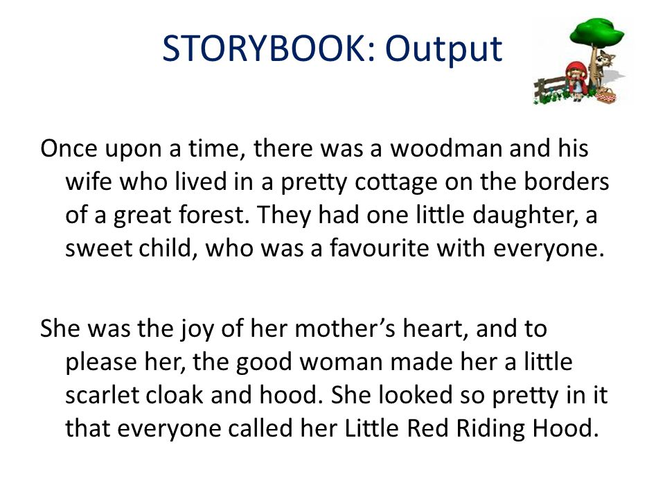 STORYBOOK: Output