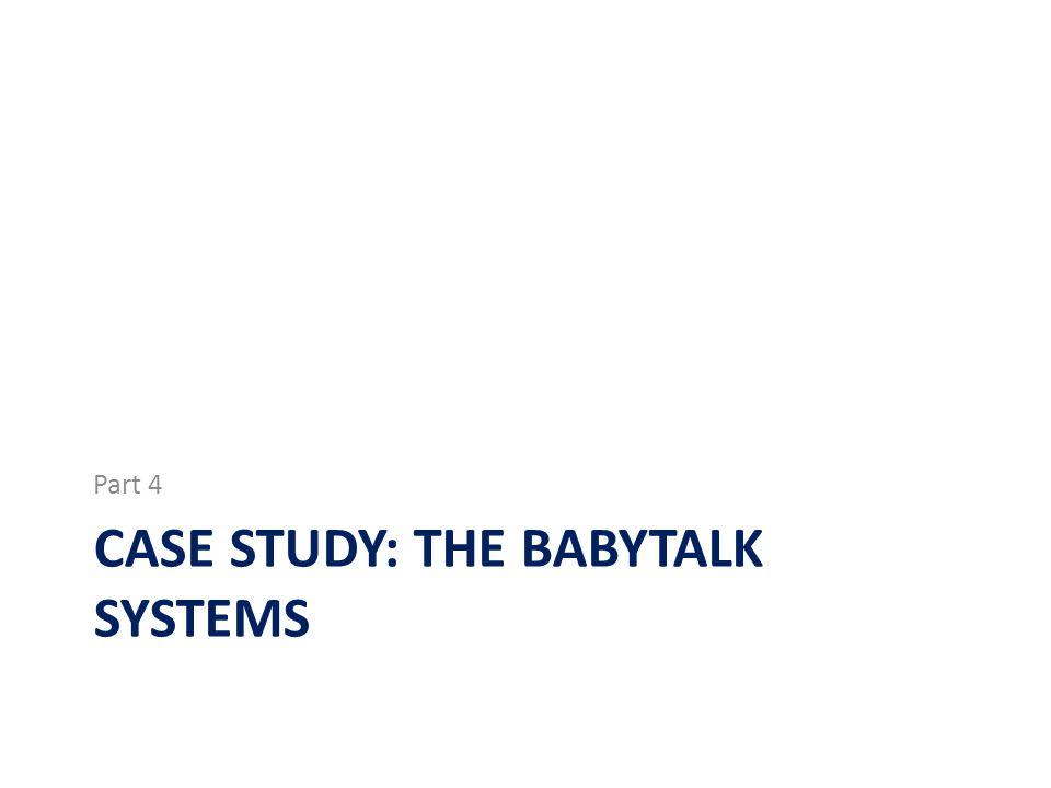 Case study: the babytalk systems