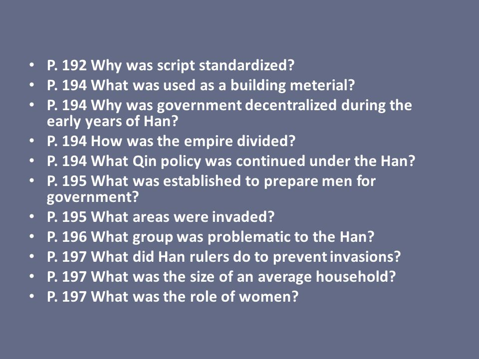P. 192 Why was script standardized