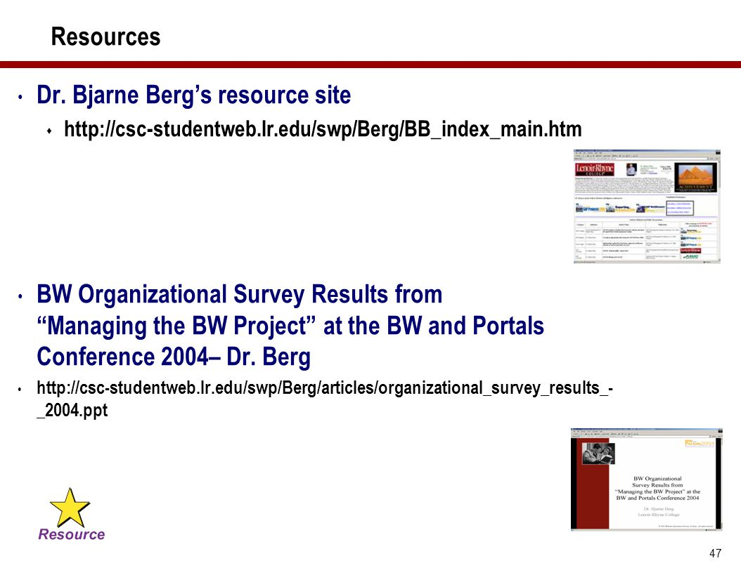 Dr. Bjarne Berg's resource site