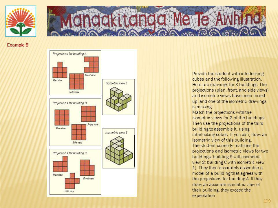 Example 6 Provide the student with interlocking cubes and the following illustration.