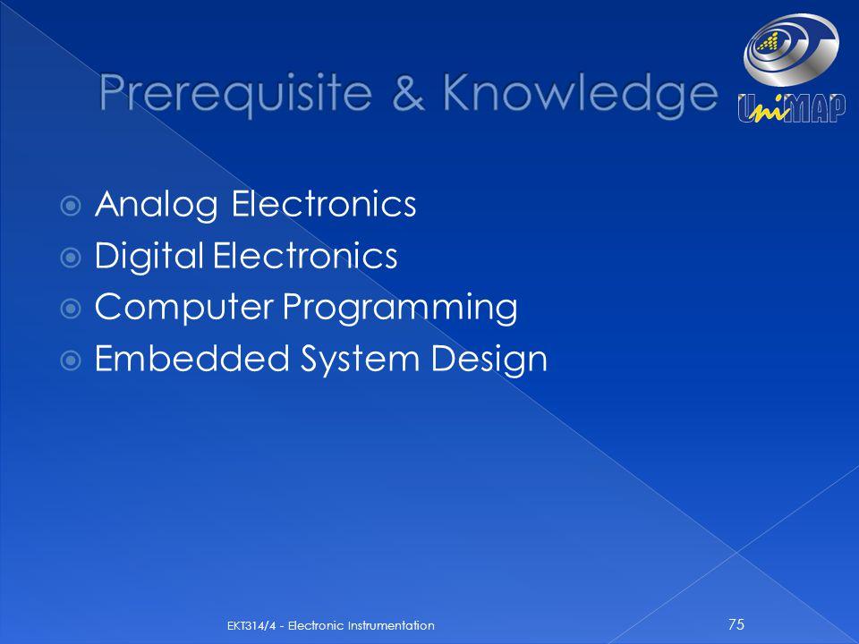 Prerequisite & Knowledge