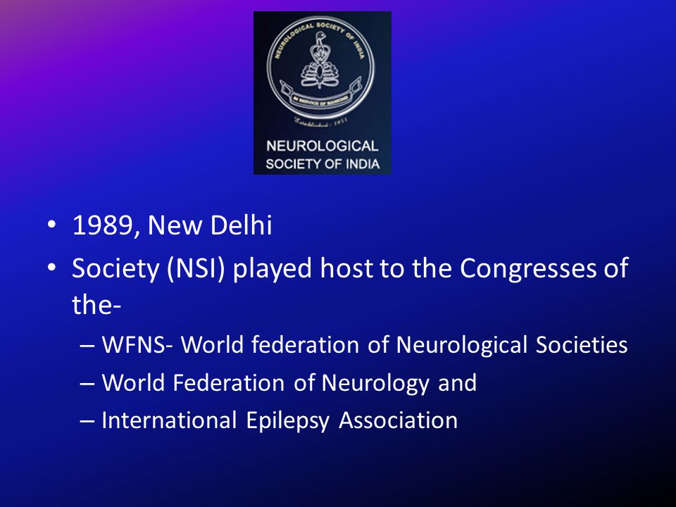 Society (NSI) played host to the Congresses of the-