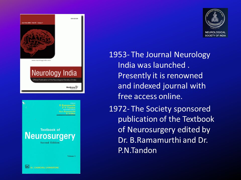 1953- The Journal Neurology India was launched