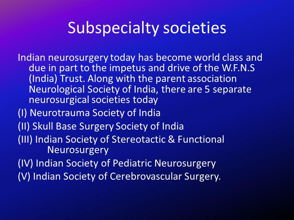 Subspecialty societies