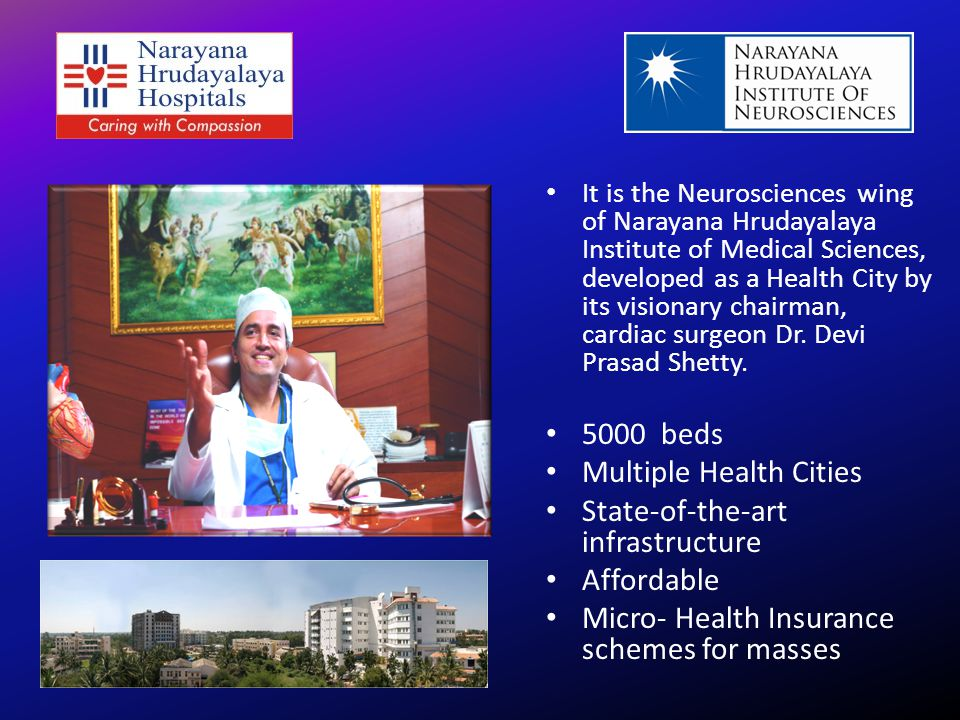 Multiple Health Cities State-of-the-art infrastructure Affordable