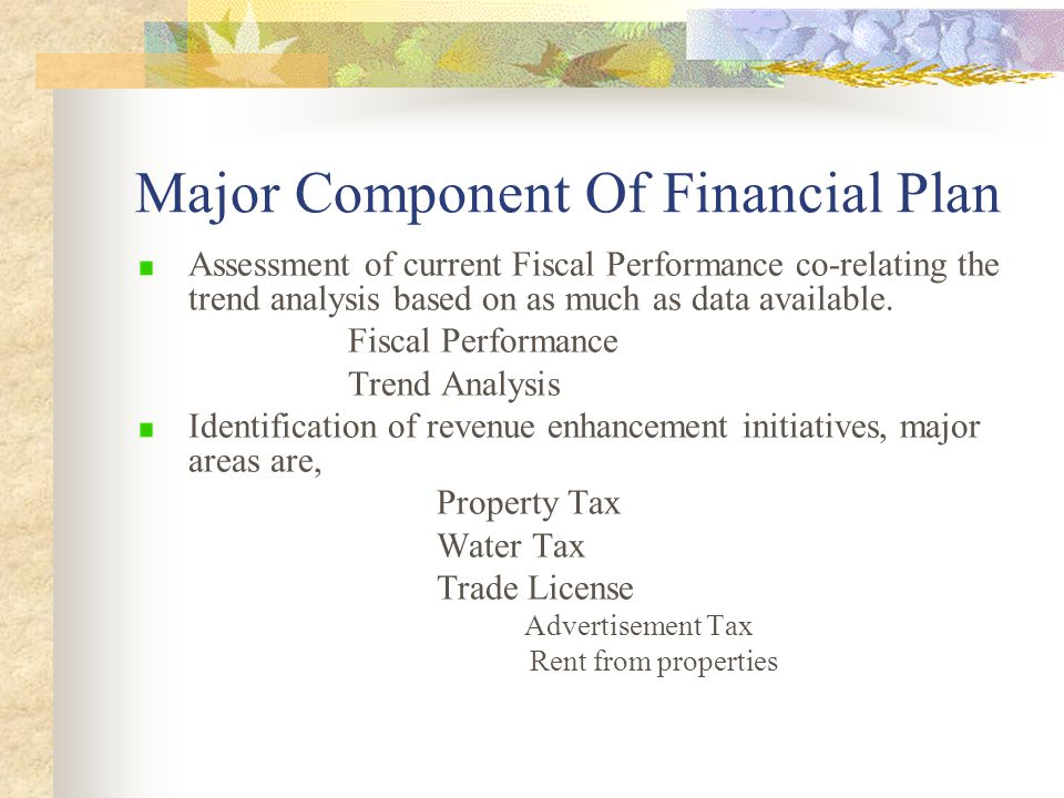 Major Component Of Financial Plan