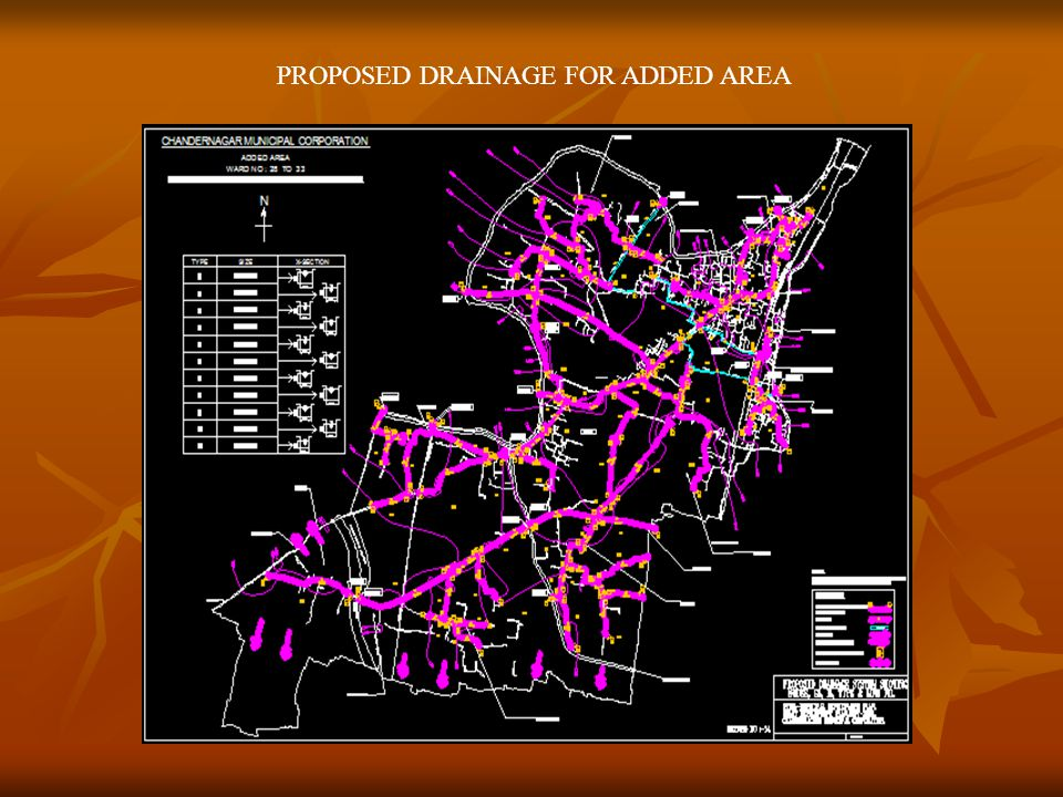 PROPOSED DRAINAGE FOR ADDED AREA