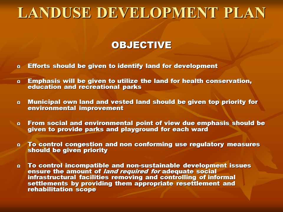 LANDUSE DEVELOPMENT PLAN