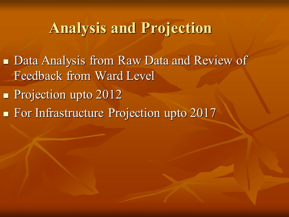Analysis and Projection