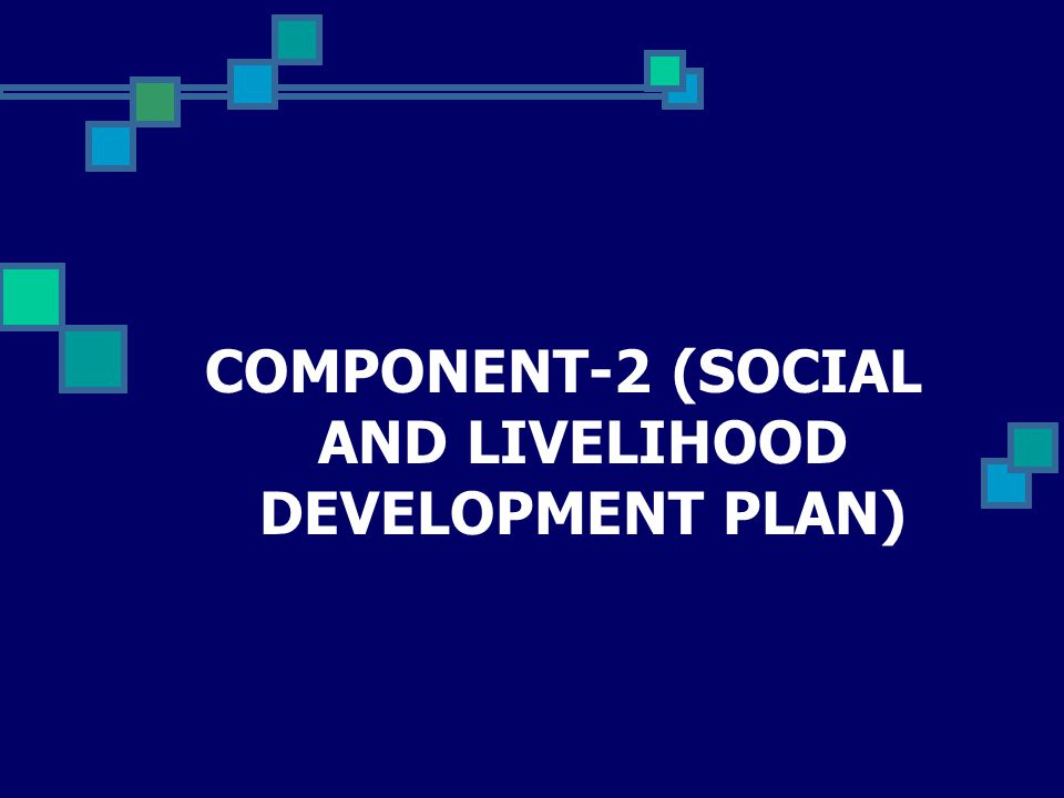 COMPONENT-2 (SOCIAL AND LIVELIHOOD DEVELOPMENT PLAN)