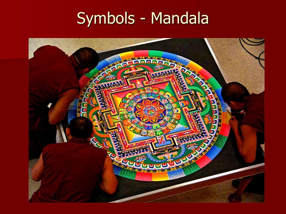 Symbols - Mandala Buddhapada- representations of Buddha's footprints