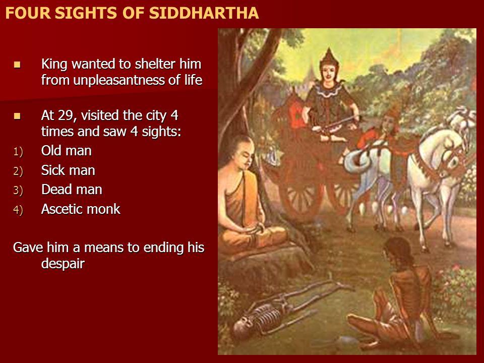 FOUR SIGHTS OF SIDDHARTHA