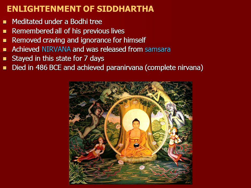 ENLIGHTENMENT OF SIDDHARTHA