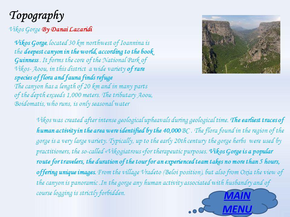 Topography Vikos Gorge By Danai Lazaridi