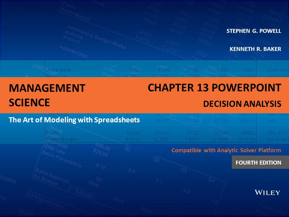 Chapter 13 PowerPoint Decision Analysis