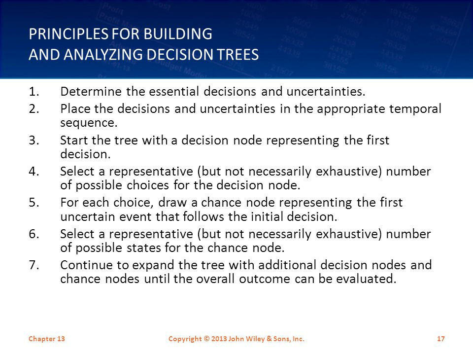 Principles for Building and Analyzing Decision Trees