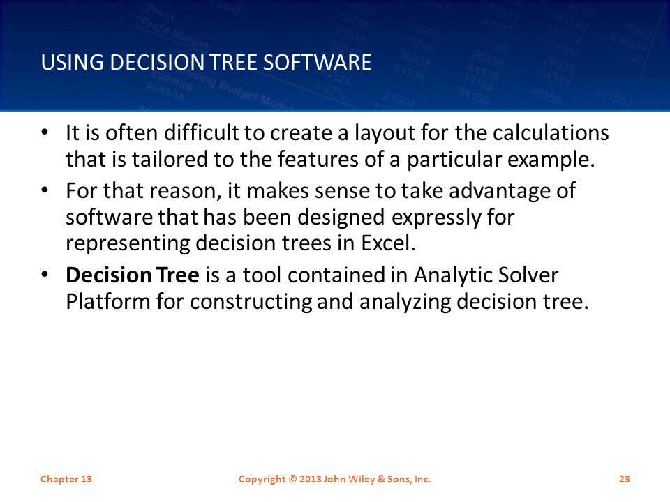 Using Decision Tree Software
