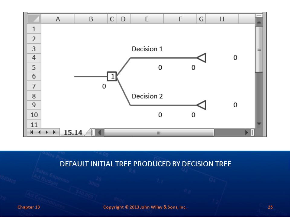 Default Initial Tree Produced by Decision Tree