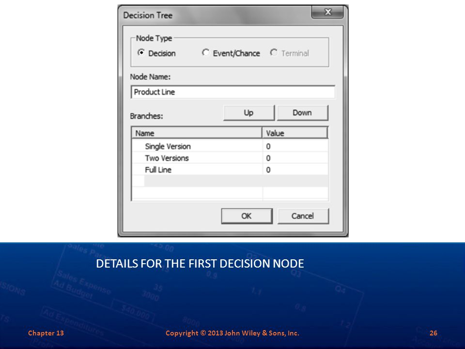 Details for the First Decision Node