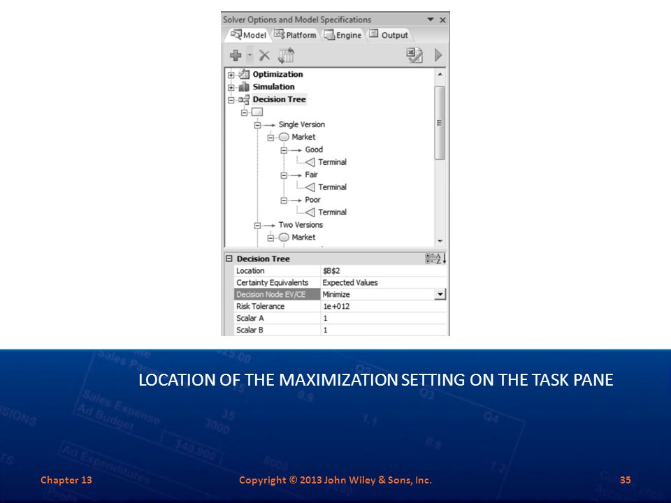 Location of the Maximization Setting on the Task Pane