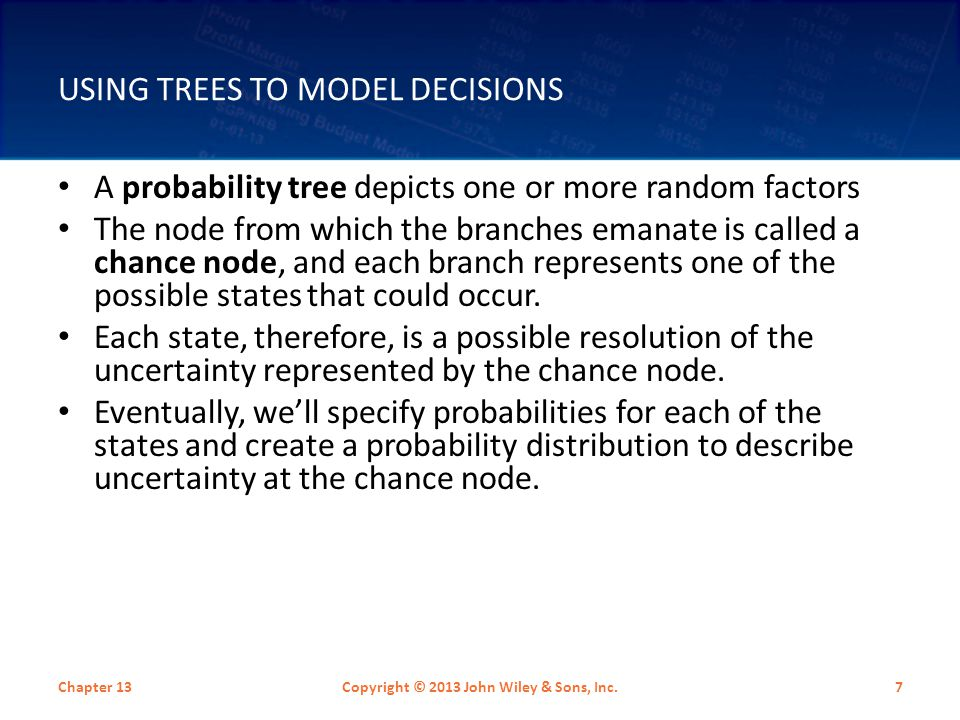 Using Trees to Model Decisions
