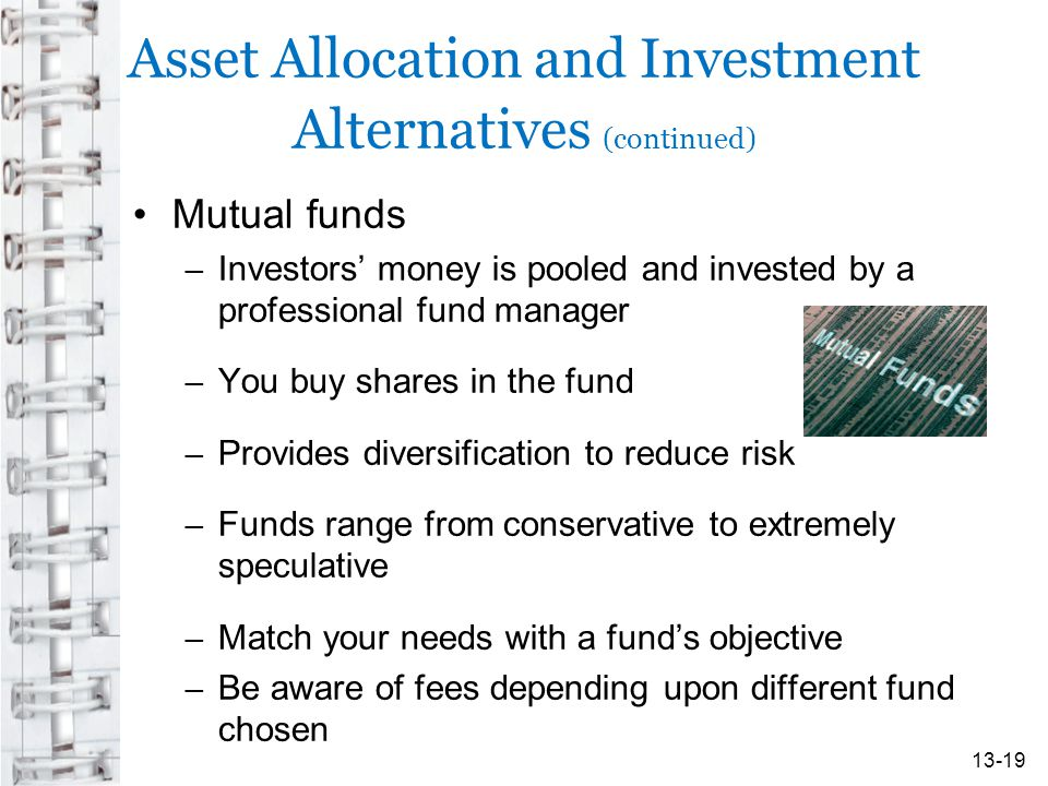 Asset Allocation and Investment Alternatives (continued)