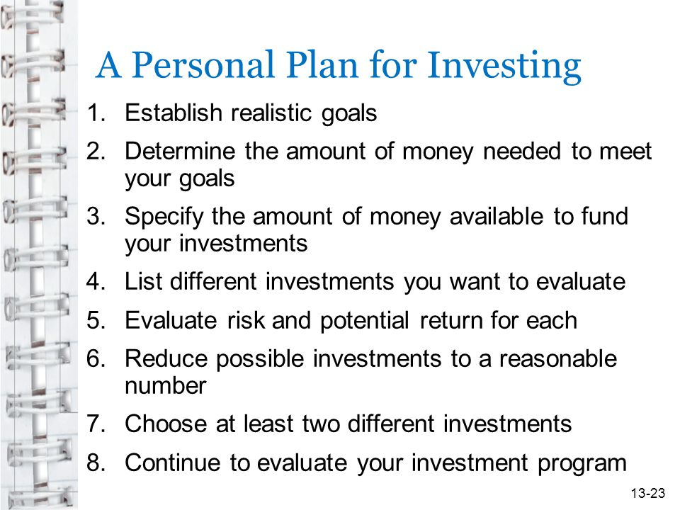 A Personal Plan for Investing