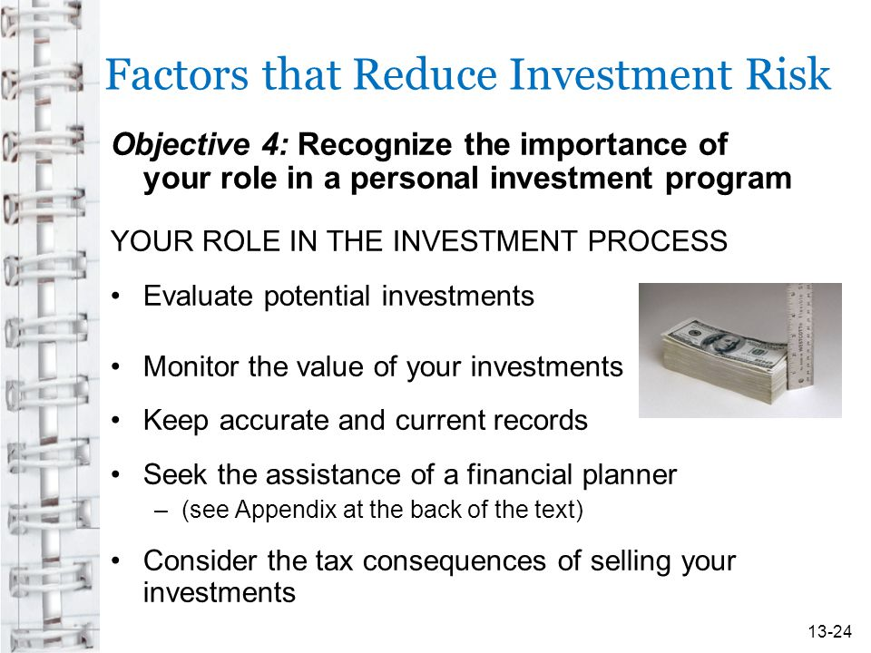 Factors that Reduce Investment Risk