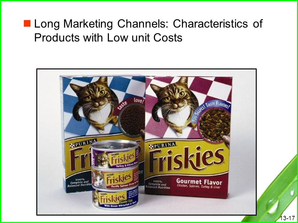 Long Marketing Channels: Characteristics of Products with Low unit Costs