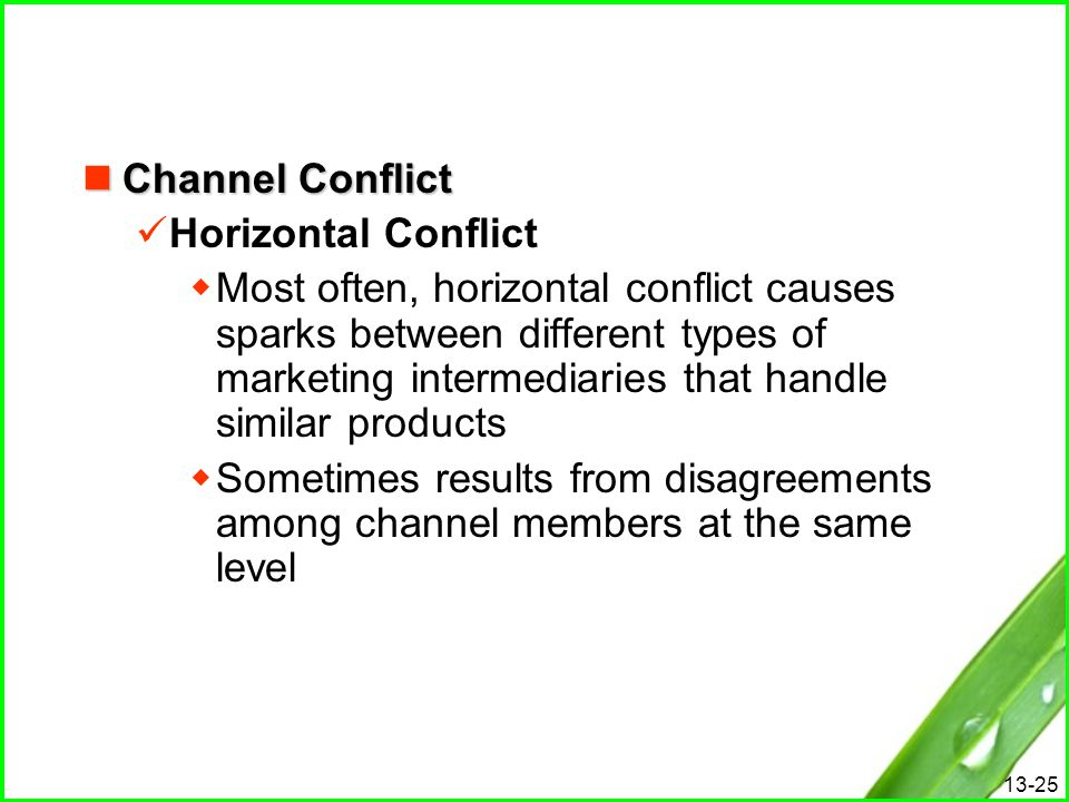Channel Conflict Horizontal Conflict.