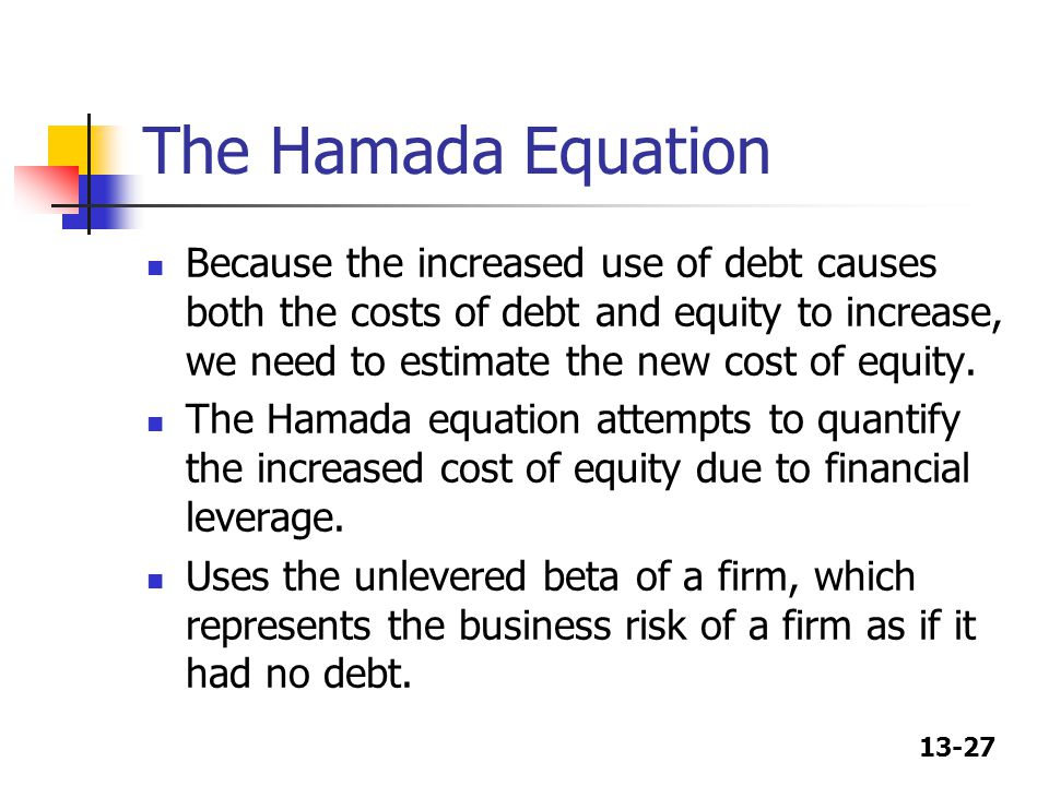 The Hamada Equation