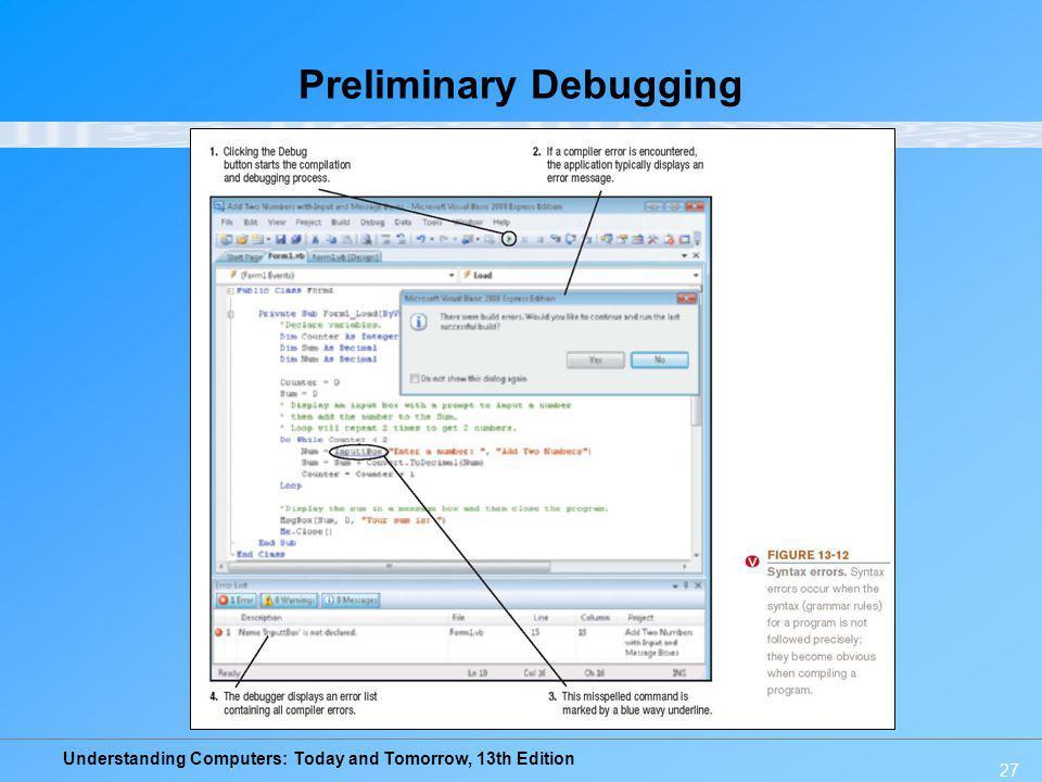 Preliminary Debugging
