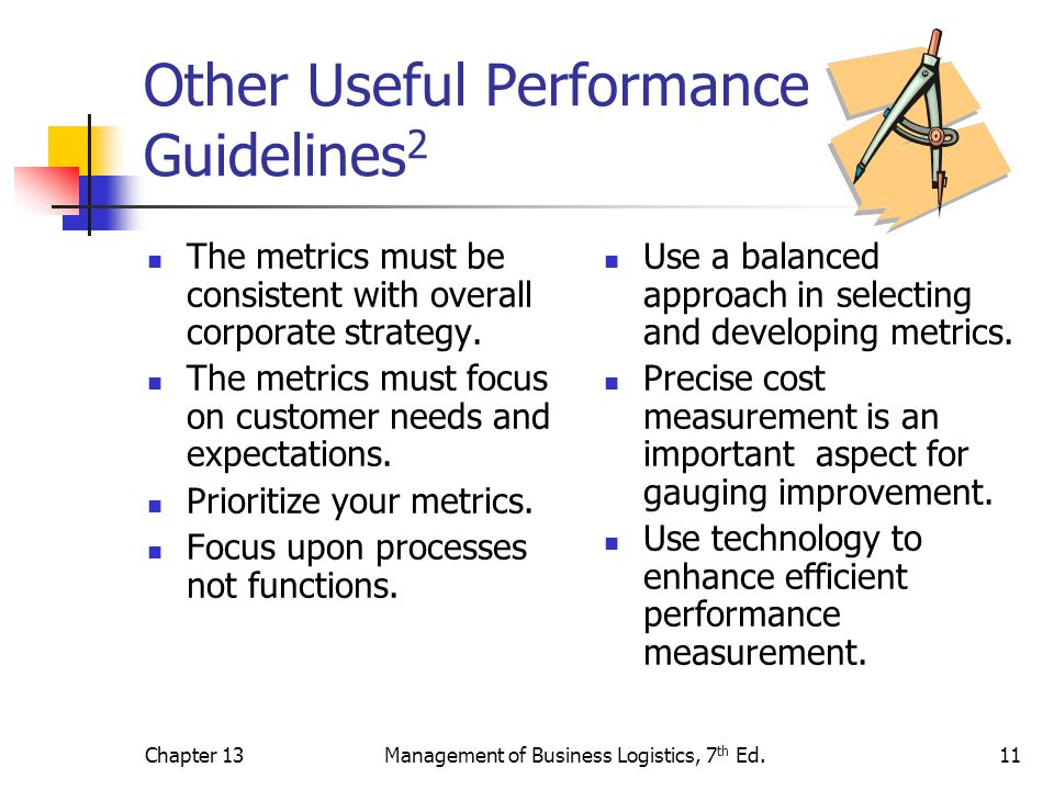 the performance measurement in business logistics commerce essay Effective performance management with the balanced scorecard  11 from performance measurement to strategic management  performance and.