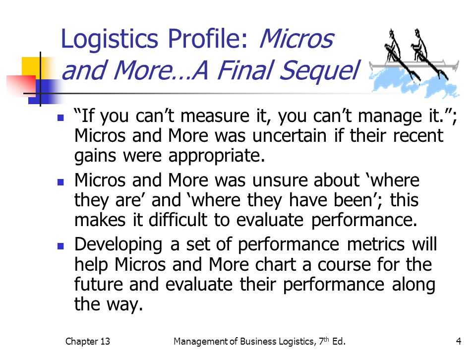 Logistics Profile: Micros and More…A Final Sequel