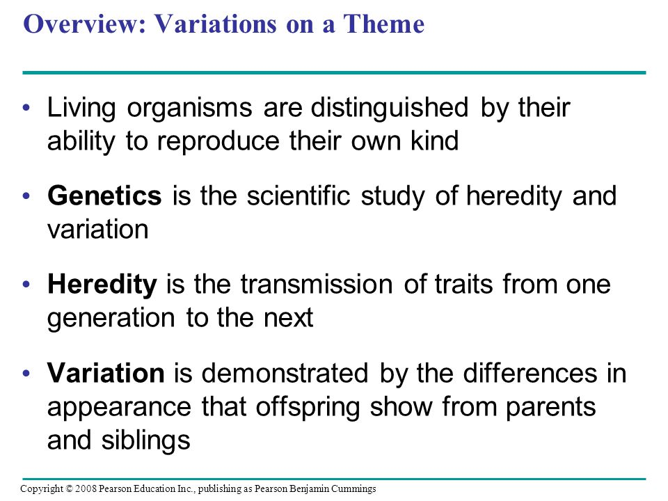 Overview: Variations on a Theme