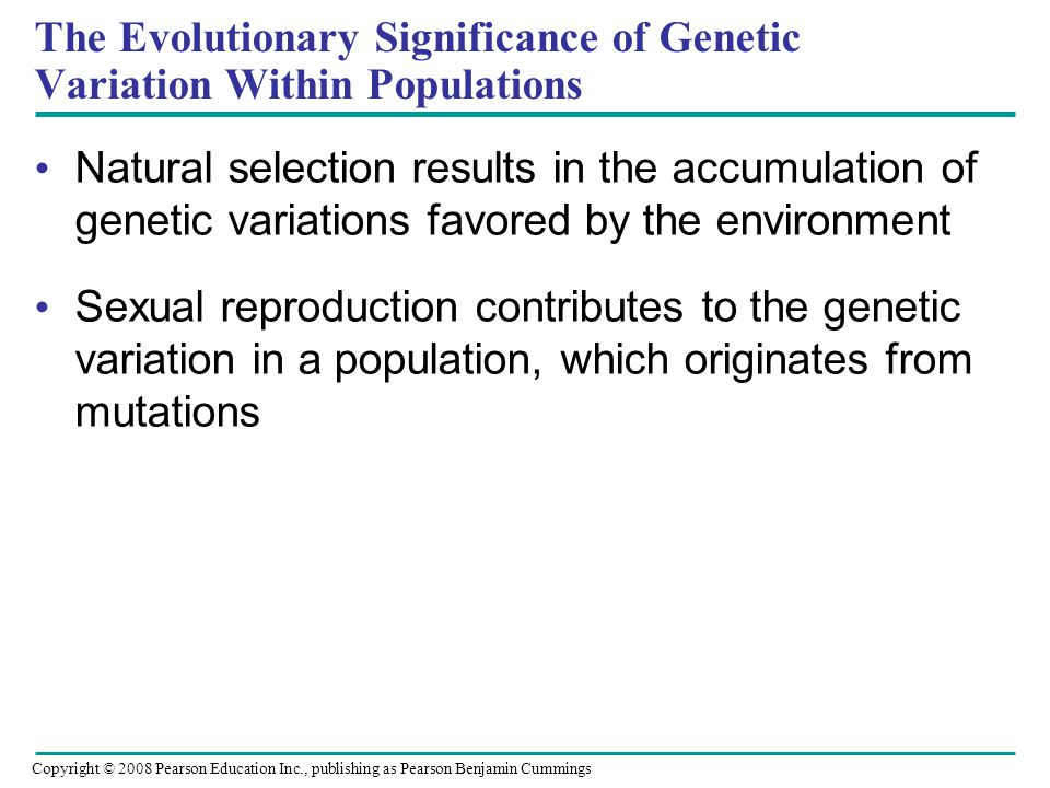 The Evolutionary Significance of Genetic Variation Within Populations