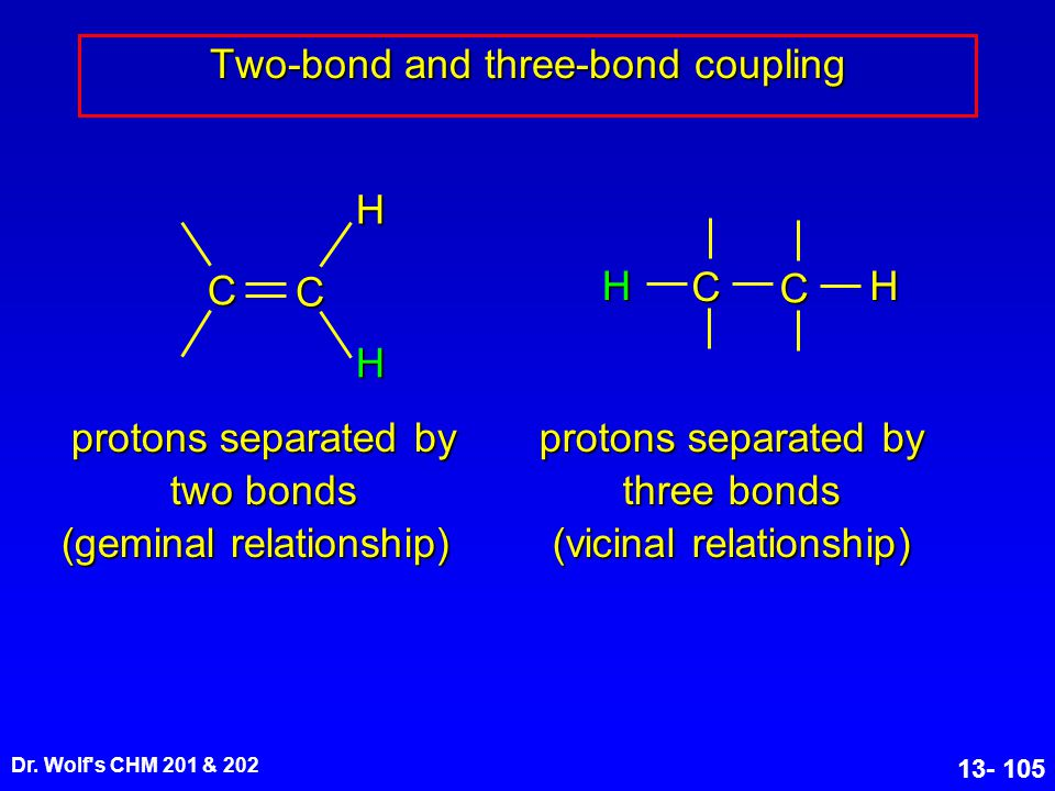 Two-bond and three-bond coupling