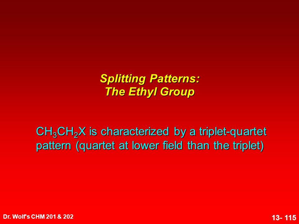 Splitting Patterns: The Ethyl Group