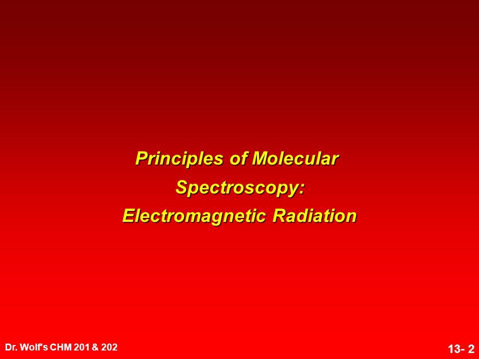 Principles of Molecular Spectroscopy: Electromagnetic Radiation