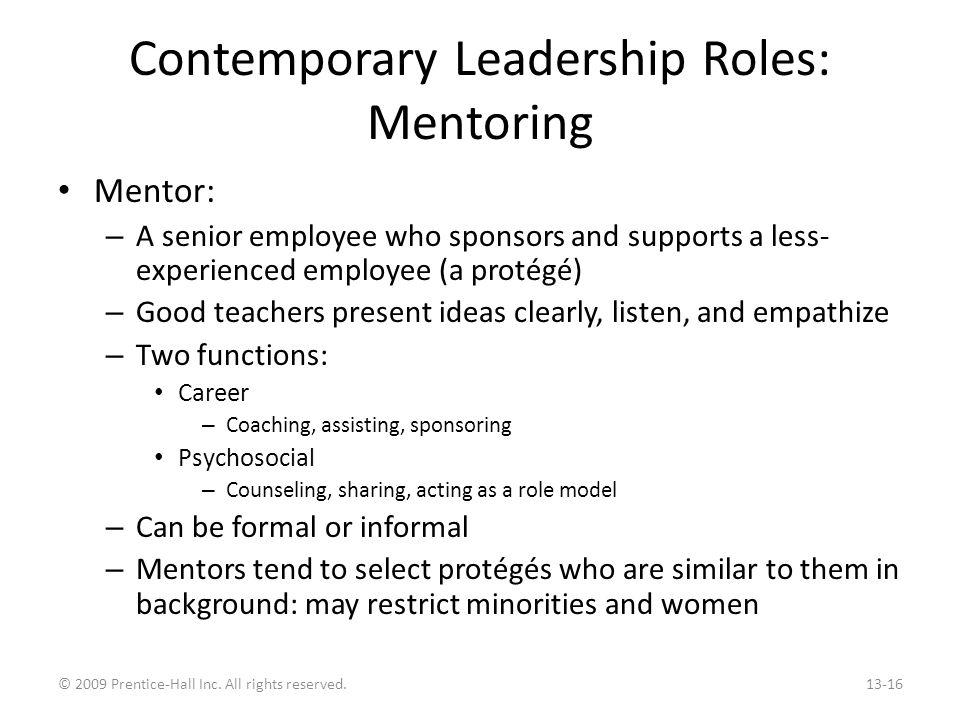 Contemporary Leadership Roles: Self-Leadership