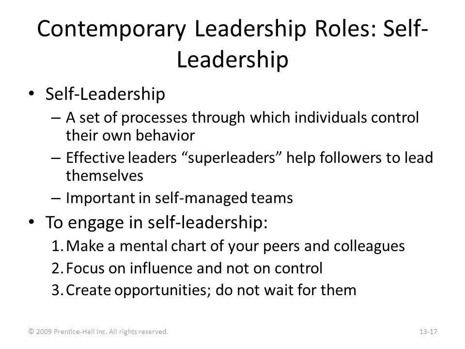 Contemporary Leadership Roles: Online Leadership