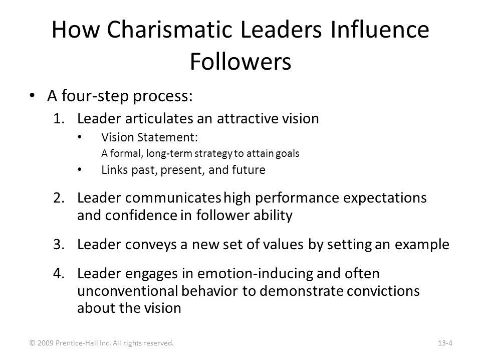 Charismatic Leadership Issues