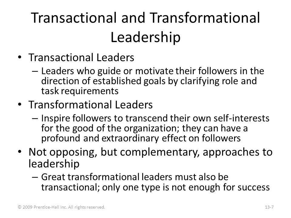 Characteristics of the Two Types of Leaders