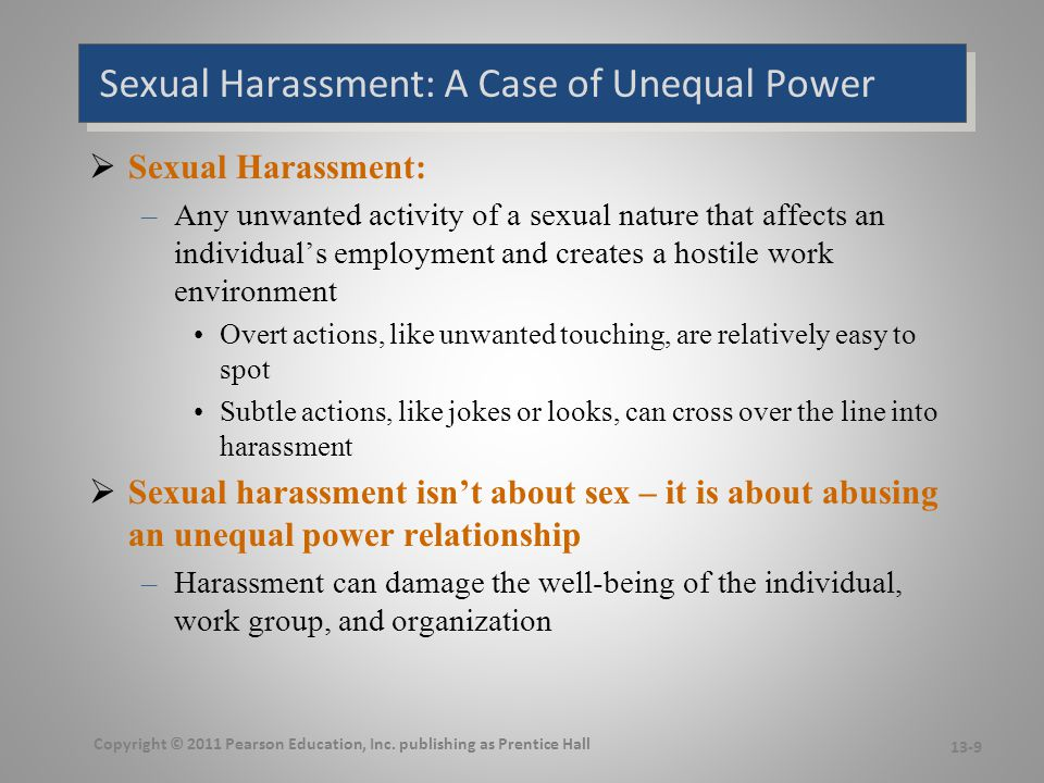 an analysis of the history and legal regulation of the issue of sexual harassment Information about sexual harassment - legal standards how is employer liability for sexual harassment structured under the law the eeoc will issue a notice.