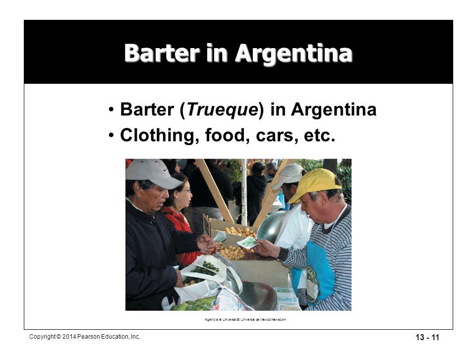 Barter in Argentina Barter (Trueque) in Argentina