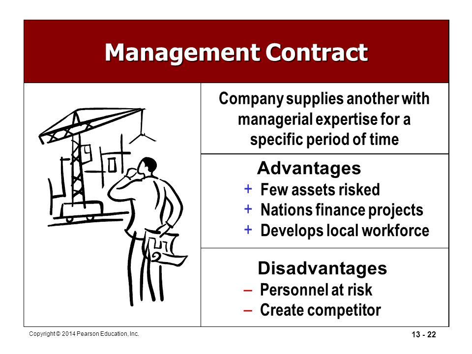 Management Contract Advantages Disadvantages