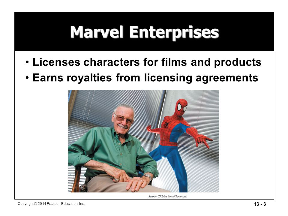 Marvel Enterprises Licenses characters for films and products