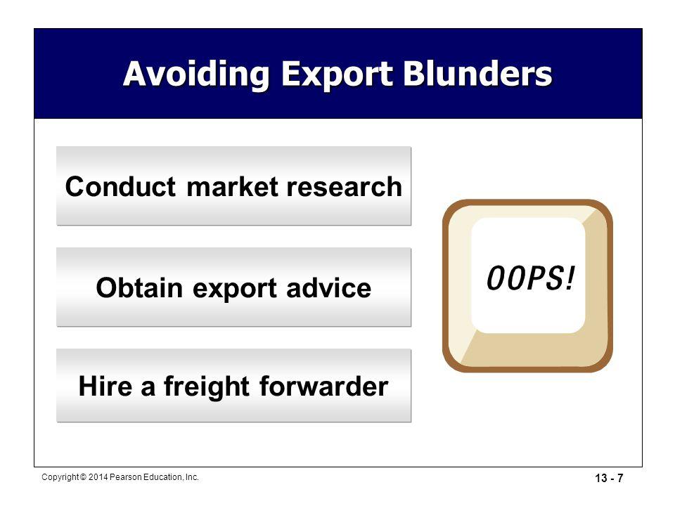 Avoiding Export Blunders